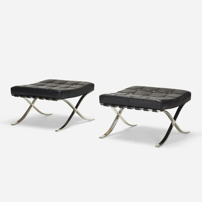 Ludwig Mies van der Rohe, 'Barcelona ottomans, pair', 1928