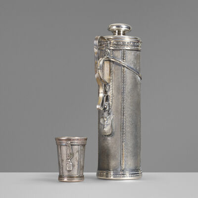 Derby Silver Plate Company, 'Cocktail shaker and cup, model 1921', c. 1926