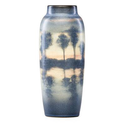 Edward T. Hurley, 'Scenic Vellum vase with lake scene, Cincinnati, OH', 1909