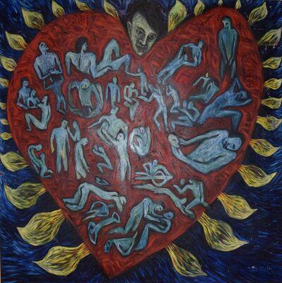 Isabel De Obaldía, 'Untitled (Heart, Flames & Lovers)', ca. 1992