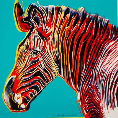 Andy Warhol, 'Grevy's Zebra, from Endangered Species', 1983