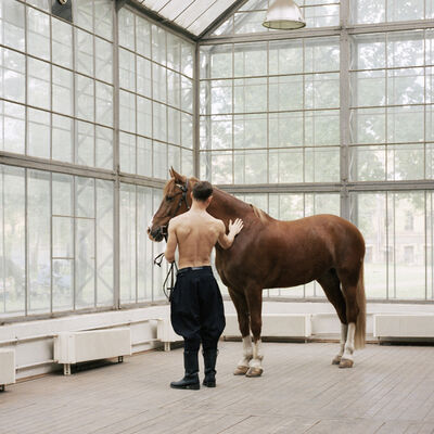 Valery Katsuba, 'Model With The Horse', 2014