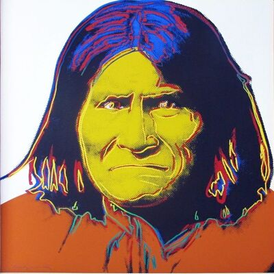Andy Warhol, 'Cowboys and Indians: Geronimo II.384', 1986