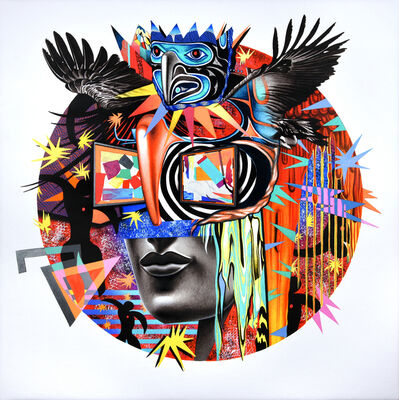 Peter D. Gerakaris, 'Icarus Mask Remix', 2017