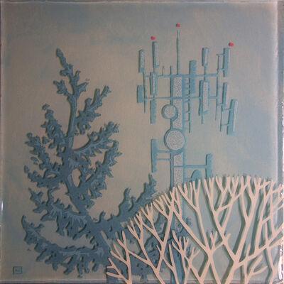 Jeff Sylvester, 'Blue Spruce, Blue Tower', 2015