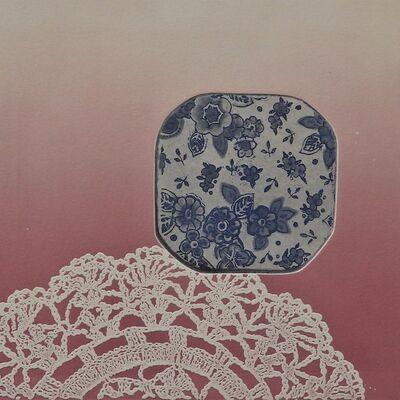 Monica Chivas, 'nummber twee-blau en wit', 2015