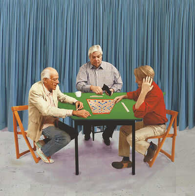 David Hockney, 'A Bigger Scrabble Players', 2015