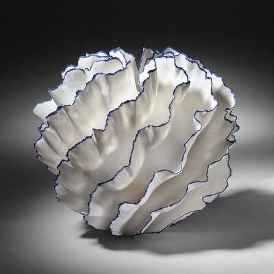 Sandra Davolio, 'Vessel With Blue Edges', 2019
