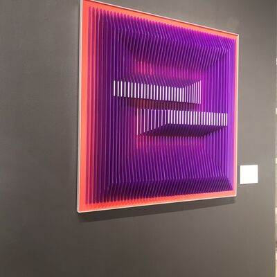J. Margulis, 'Displaced Illusion 30PR - Geometric Abstract wall sculpture', 2019