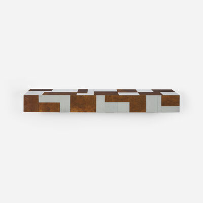 Paul Evans (1931-1987), 'wall-mounted Cityscape shelf from the PE 400 series', c. 1975