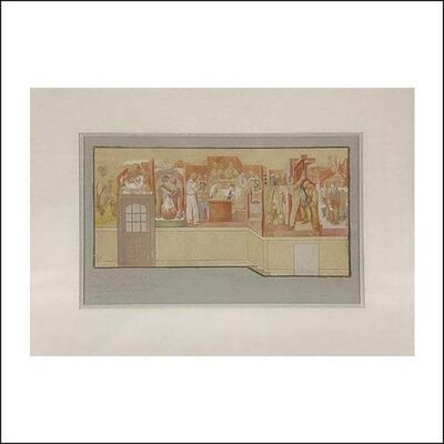 Michael Loew, 'Mural Study 1933 Depression Era Mid-Century WPA Modern American Scene Drawing', 1930s
