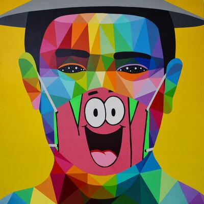 Okuda San Miguel, 'Pandemia Portrait #7', 2020