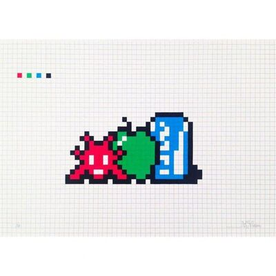 Invader, 'Still life with Pocari Can ', 2014