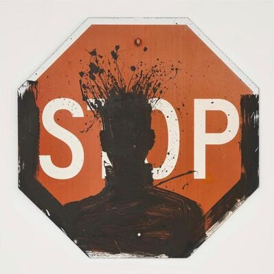 Richard Hambleton, 'Untitled (Shadow Head on Stop Sign)', 1999