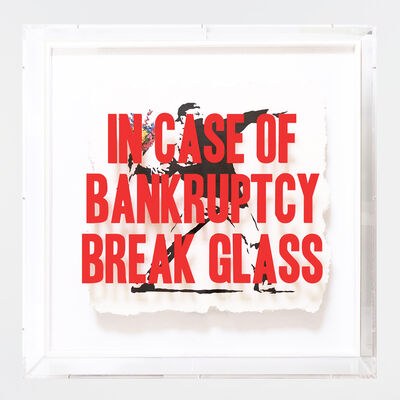 Thirsty Bstrd, 'In Case of Bankruptcy - Flower Thrower', 2018