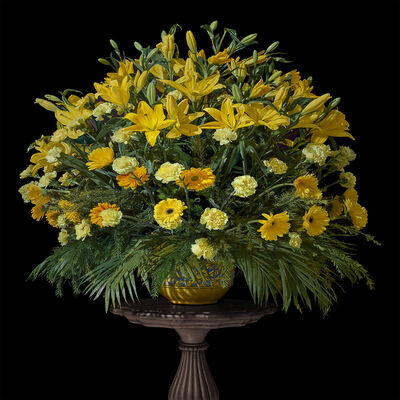 T.M. Glass, 'Jaipur Wedding Bouquet with Lilies, Marigolds, and Carnations', 2017
