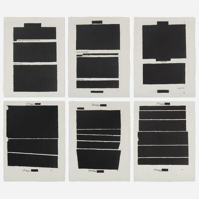 Jenny Holzer, 'Top Secret (six works)', 2012