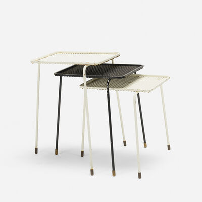 Mathieu Matégot, 'Soumba nesting tables, set of three', 1953