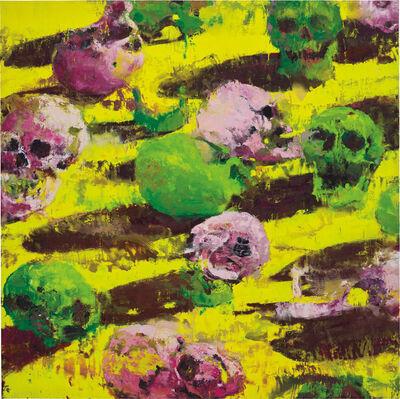 Philippe Cognée, 'Yellow Skulls', 2009