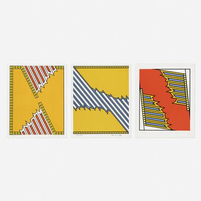 Nicholas Krushenick, 'Silver Liner; Deep Down Orange; Greenwood (three works)', 1979
