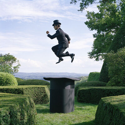 Rodney Smith, 'Reed Floating Above Giant Top Hat, Amenia, NY', 2014