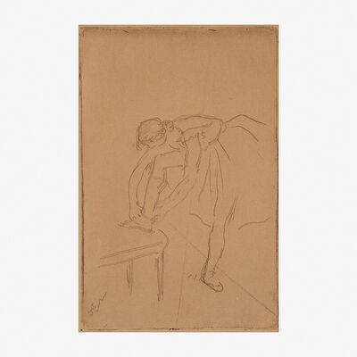 Edgar Degas, 'Danseuse Mettant son Chausson', ca 1892