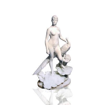 Jean-Alexandre-Joseph Falguière, 'La femme au paon [Juno and the peacock]', ca. 1890