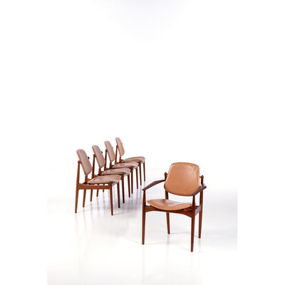 Arne Vodder, 'Model FD-184, Set of four chairs and an armchair', 1950