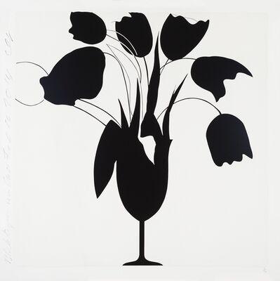 Donald Sultan, 'Black Tulips and Vase, Feb 26, 2014', 2014