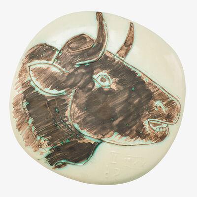 """Pablo Picasso, 'Wall-hanging plaque, """"Bull's Profile (Le Profil de Taureau),"""" edition of 450, France'"""