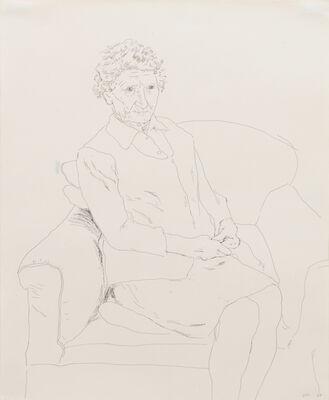 David Hockney, 'Mother, Wales ', 1977