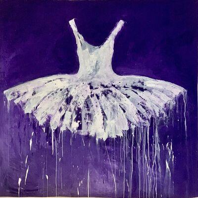 Ewa Bathelier, 'purple dress', 2021