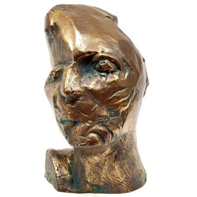 Philip Pavia, 'Untitled, Head Of An Artist, Avant-Garde Bronze Sculpture', 20th Century