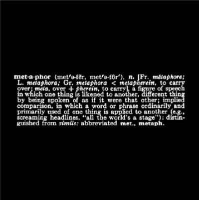 Joseph Kosuth, ''Titled (Art as Idea As Idea) [metaphor]'', 1967