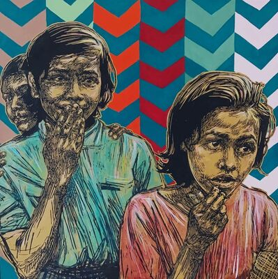 Swoon, 'Sambhavna Girls', 2018