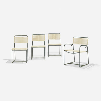 Walter Lamb, 'dining chairs, set of four', 1952
