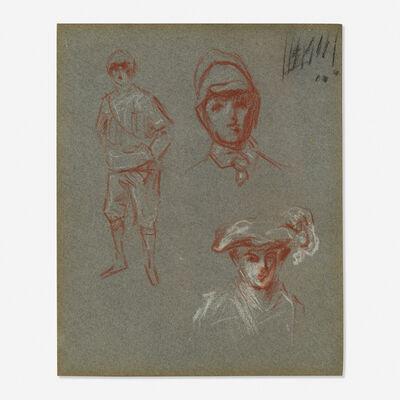 Arthur Beecher Carles, 'Figure and Head (#163-A from sketchbook)'