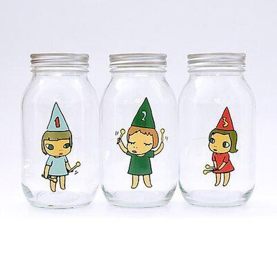 Yoshitomo Nara, 'Girl Storage Jar (450 mL; Green, Red, Blue)', 2010-2020