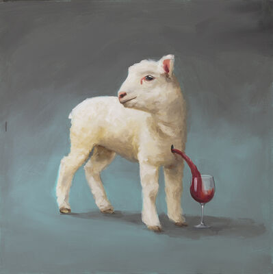 Oliver Jeffers, 'Decanting And Corking The Lamb Of God', 2012