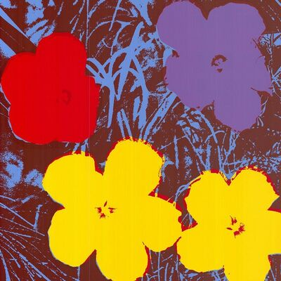 Andy Warhol, 'Flowers (Red, Yellow, Purple Hues - Warhol, Pop Art)', 2018
