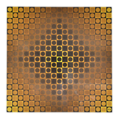 Victor Vasarely, 'Alom Yellow/Yellow', 1971