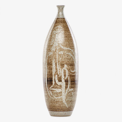 Aaron Bohrod, 'Tall bottled-shaped vase with abstract nudes, Wisconsin'