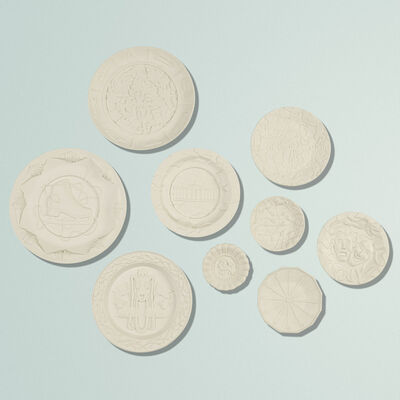 Studio Job, 'Biscuit plates, set of nine', 2006