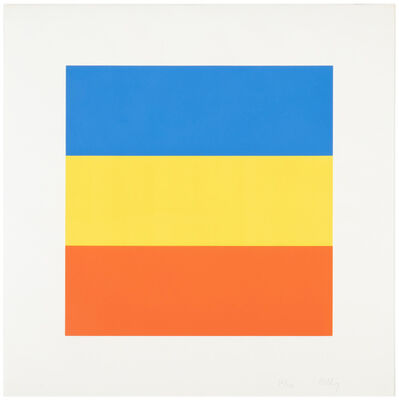 Ellsworth Kelly, 'Blue, Yellow, Red (untitled)', 1970-1973
