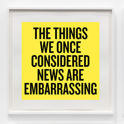 Douglas Coupland, 'The things we once considered news are embarrassing', 2020