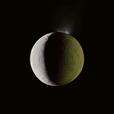 Michael Benson, 'Enceladus Geysers Water into Space, Cassini, December 25, 2009', 2012