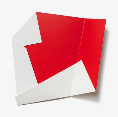 Sébastien de Ganay, 'White & Red Folded Flat 02', 2021