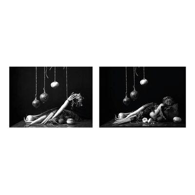 Dora Franco, 'Bodegón con verduras I & III (B&W). Diptych.', 2015