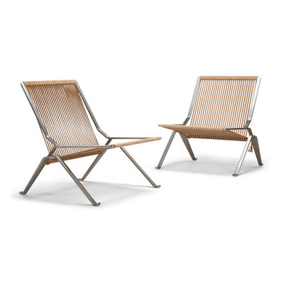 Poul Kjærholm, 'A pair of early and important PK 25 chairs', 1951