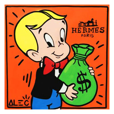 Alec Monopoly, 'Hermes Richie with $ Bag', 2019